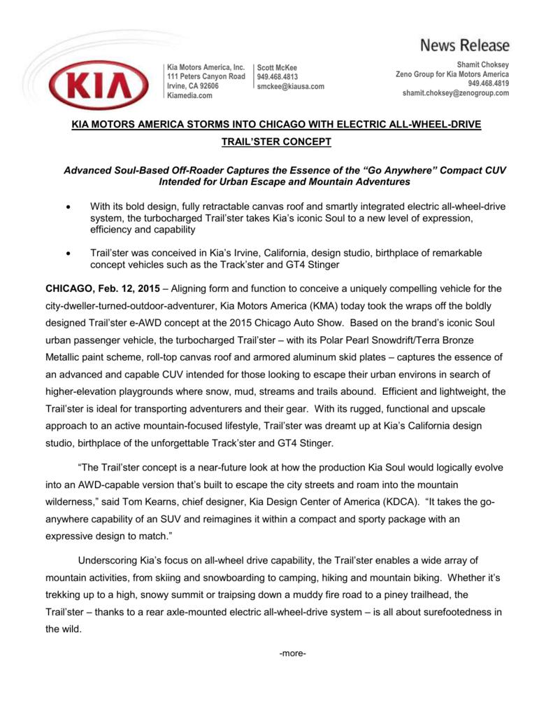 Kia Motors America Storms Into Chicago With