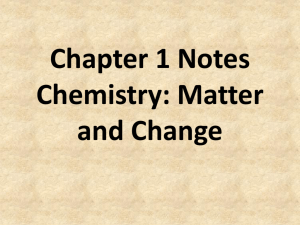 Chapter 1 Notes