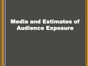 Media and Estimates of Audience Exposure