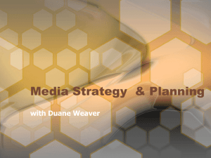 Media Strategy & Planning