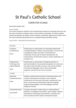 Computer Science - St. Paul's Catholic School