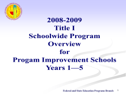 Purpose of Title I - Los Angeles Unified School District