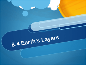 8.4 Earth's Layers