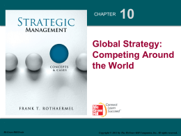 10a Global Strategy: Competing Around the World