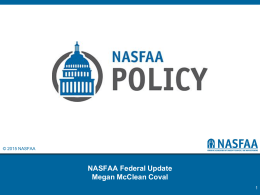 NASFAA Policy Recommendations/Task Force