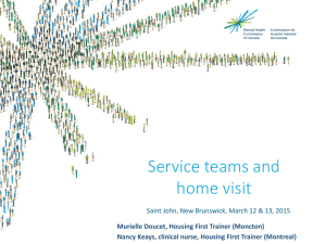 Service teams and home visit - Mental Health Commission of Canada