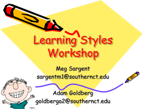 Learning Styles Workshop