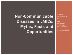 Non-communicable Cardiovascular Diseases in sub