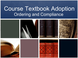 Course Textbook Adoption