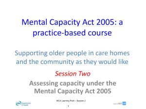 their best interests - Mental Capacity Act 2005