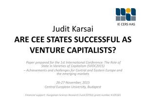 Are CEE states successful as venture capitalists?