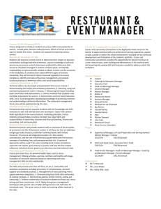 Restraurant and Event Management