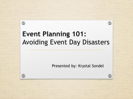 Krystal Sondel – Event Planning 101