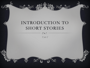 Introduction to Short stories