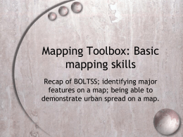 Mapping Toolbox - Year 8 Investigate