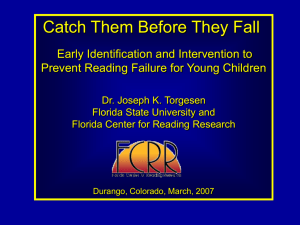Downloadable PowerPoint - Florida Center for Reading Research