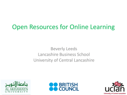 Packaged OER - Center for Learning Technologies