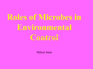 Microbes and the Environment