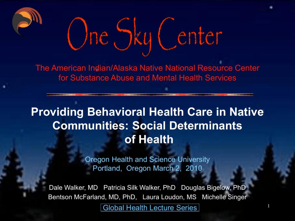 Providing Behavioral Health Care In Native