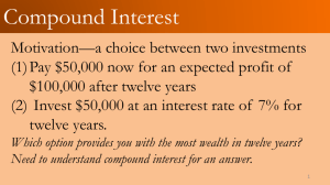 How much money do we need to invest today at an interest rate of 3