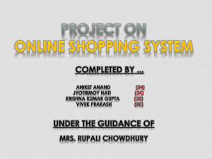 Online Shopping system (final)