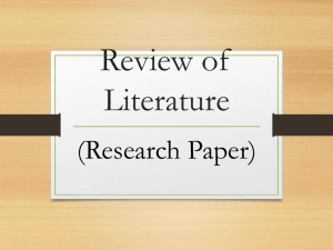 Review of Literature PowerPoint