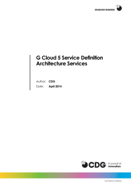2.0 Service Definition: Architecture Services