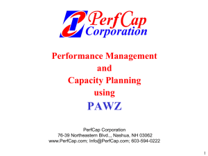 PAWZ Server - PerfCap Corporation