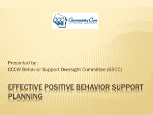 Behavior Support Planning