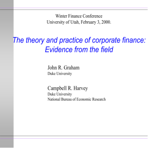 BA 351: Corporate Finance Set 11