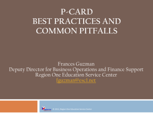 Best Practices on the Use of Purchasing Cards