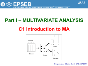 P1-1: Intro Multivariate