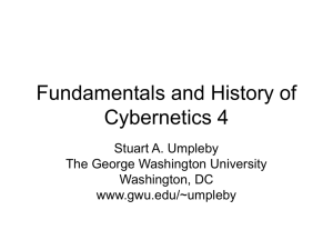 Fundamentals and History of Cybernetics 4