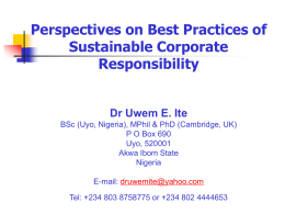 Perspectives on Best Practices of Sustainable Corporate