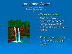 Land and Water, Grade 4
