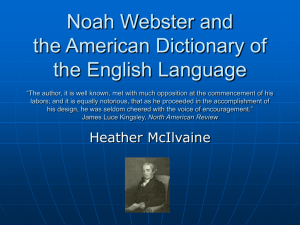 Noah Webster and The American Dictionary of English