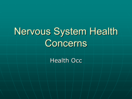 Nervous System Health Concerns