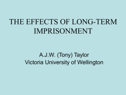 the effects of long-term imprisonment
