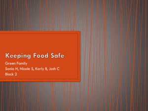 Chapter 25 Keeping Food Safe