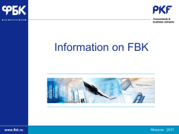 FBK have been providing audit and consulting services