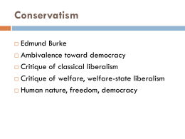 Conservatism revised