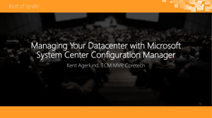 Managing Your Datacenter with Microsoft System