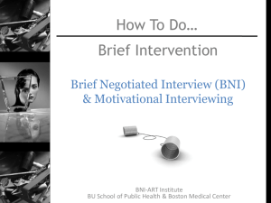 Motivational Interviewing & The BNI Toolkit