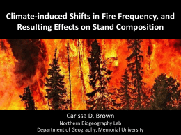 Climate-induced Shifts in Fire Frequency, and Resulting Effects on