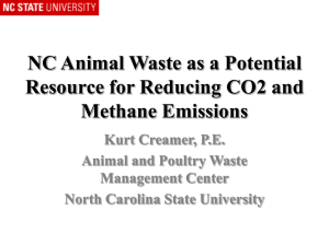 NC Animal Waste as a Potential Resource for Reducing CO2 and