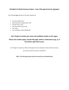extended essay contract ib candidate ib english a world literature papers cover title page