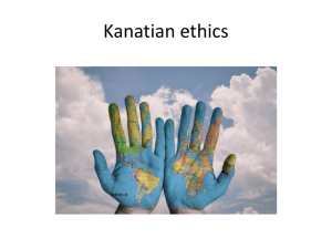 Kanatian ethics - Infused Learning
