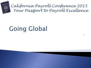 Going Global - California Payroll Conference