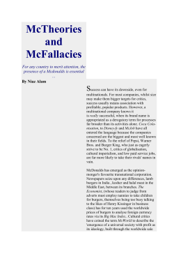 McTheories and McFallacies