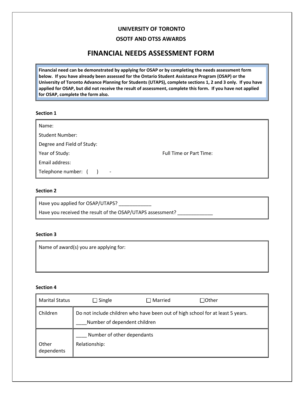 needs assessment format – Needs Assessment Format